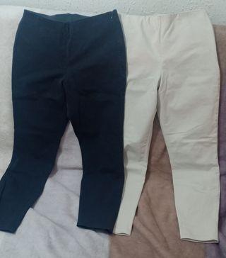 Uniqlo pantalones. negro y blanco.