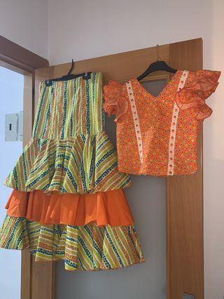 conjunto de sevillana flamenca gitana rociera
