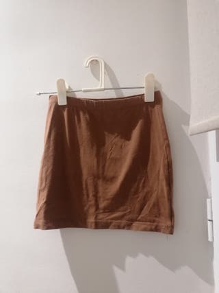 mini falda marrón