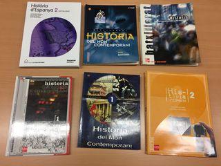 lote libros historia bachillerato nuevos y sin usa