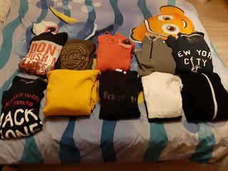 lote de 10 sudaderas ,adidas ,pull&bear,hym etc