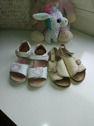 Zapatos sandalias bebé piel