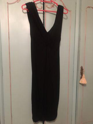 Vestido negro Stradivarius algodón fresquito