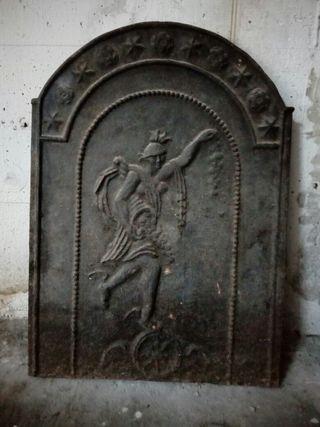 placa de chimenea antigua de hierro fundido