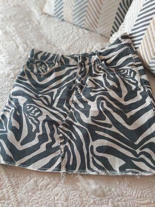 mini falda vaquera