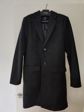 Abrigo en mezcla de lana HM Negro