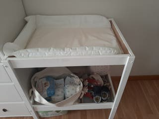 cambiador madera Ikea blanco