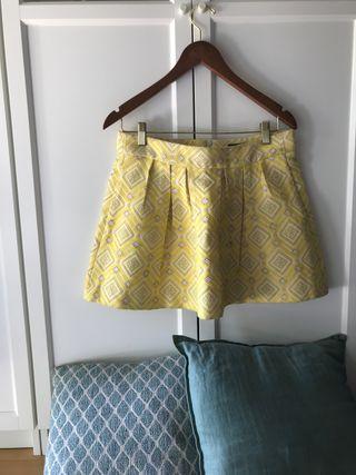 Falda estampada de Zara