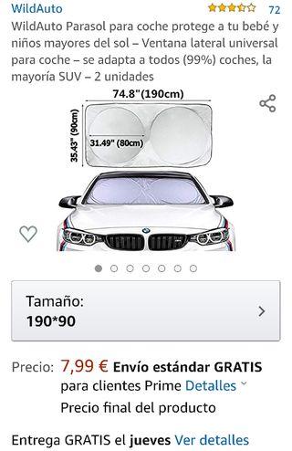 Parasol coche(Nuevo sin estrenar).