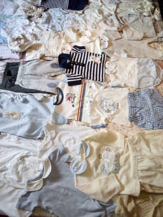 Lote ropa bebé niño, talla 0-3 meses