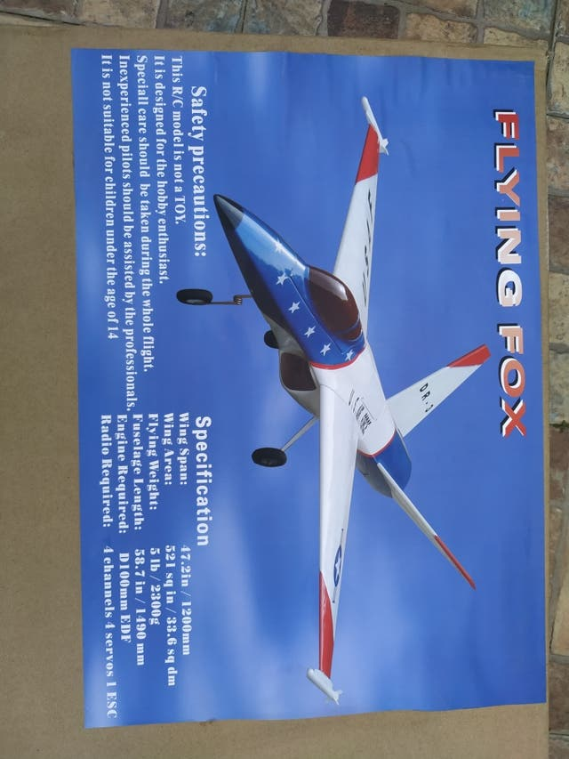 Avion rc Flying Fox
