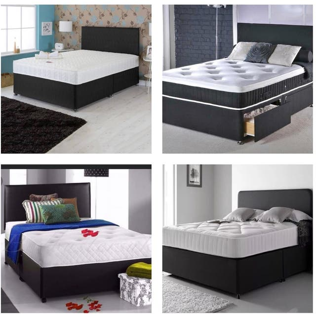 Single,double,Kingsize Divan fabric beds