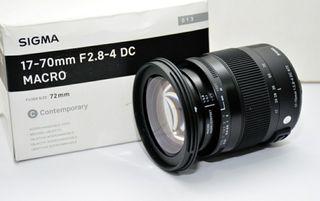 Objetivo Sigma 17-70 F2.8 - 4 DC MACRO OS HSM