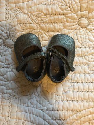 Zapatos purpurina zara bebe