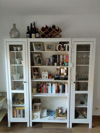 Estantería/Librería + vitrinas Ikea
