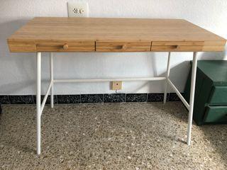 Mueble escritorio bambu Ikea