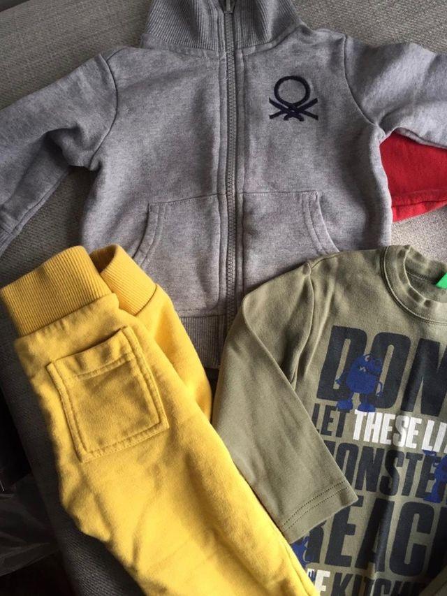 Lote Chandal conjunto ropa bebe Benetton 1-2 años