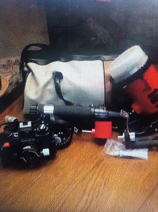 Cámara Nikon subacuatica