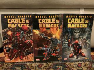 Pack cómics MASACRE & CABLE - Marvel monster 1-3