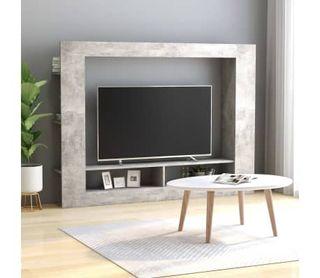 Mueble para TV de aglomerado gris hormigón
