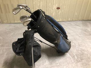 Bolsa de golf con 7 palos inesis y carrito