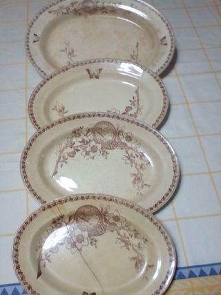 Fuentes cerámicas o bandejas