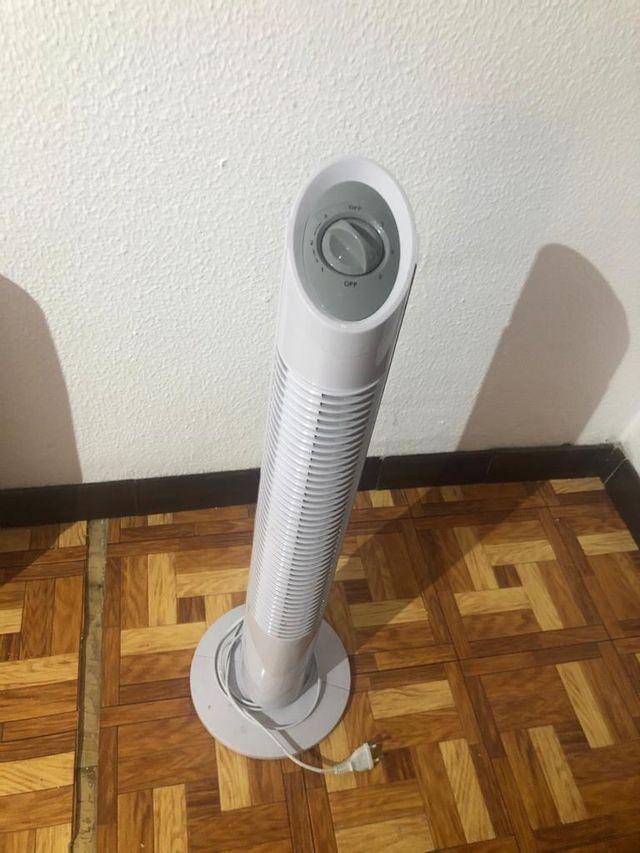 Estufa eléctrica y ventilador