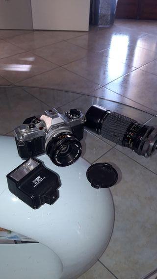 Cámara Canon AV1 accesorios incluidos