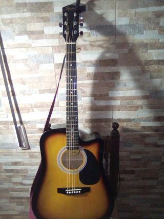 guitarra electroacústica squier fender