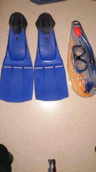 mascara snorkel + aletas