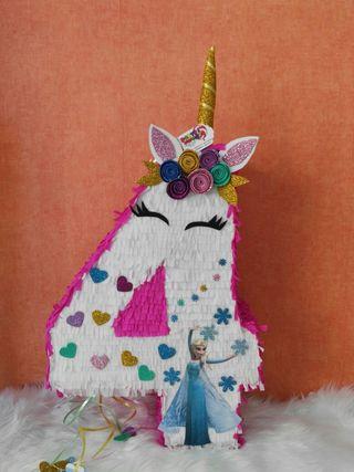 piñatas personalizadas de unicornio y frozen