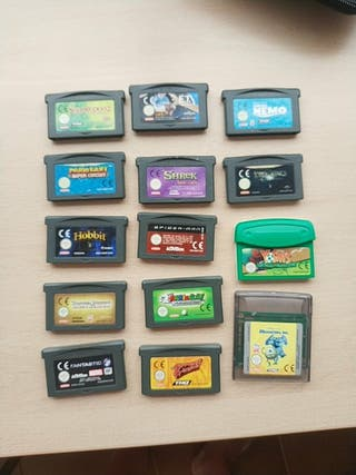 OFERTA pack de 11 juegos para Game Boy Advance.