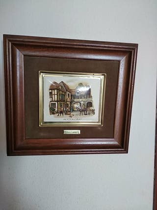 cuadro antiguo esmalte