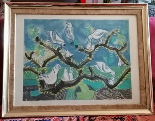 """Gran Cuadro de la """"Primavera"""" con marco y cristal"""