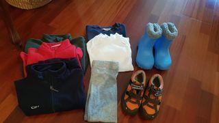 Pack de ropa de esquí niño 4/5 años.