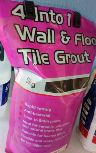 wall/floor tile grout x 2 bags