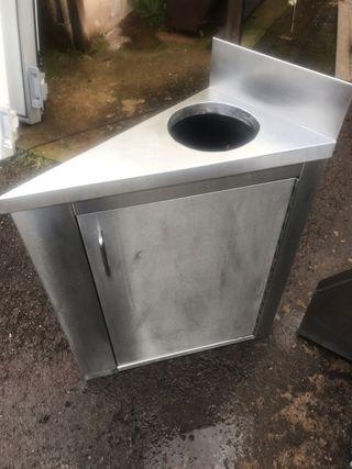 Mueble esquinero acero inox