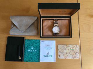 Rolex Date 15210, full set, zafiro.