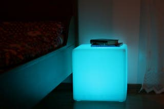 Muebles iluminados polietileno