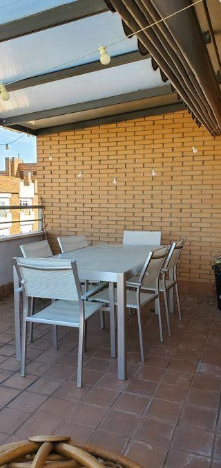 Conjunto mueble exterior aluminio
