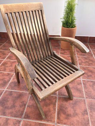 Sillas de madera jardín de segunda mano en la provincia de
