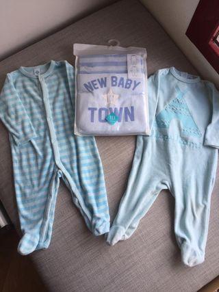 Lote Pijamas Nuevos y usados 9 meses bebe