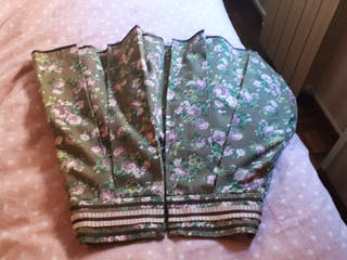 Falda marrón con flores talla 38