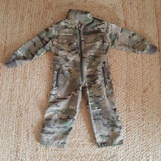 mono militar disfraz auténtico niño