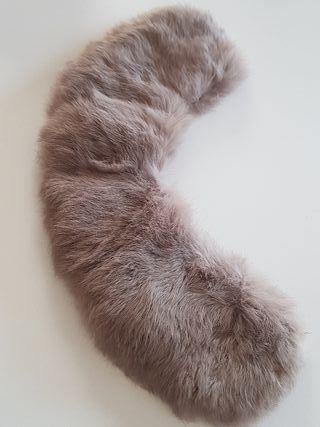 cuello piel conejo nanos