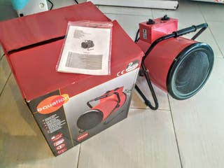 Calefactor, cañón de aire.