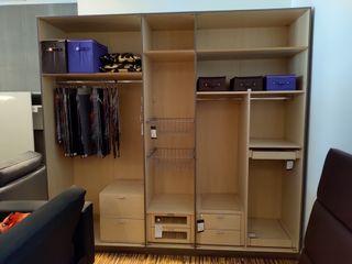 armario vestidor sin puertas