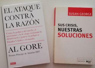 2 libros de AL GORE Y SUSAN GEORGE