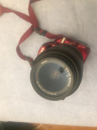Camara fotos reflex Nikon d3100 con 18-55 + filtro