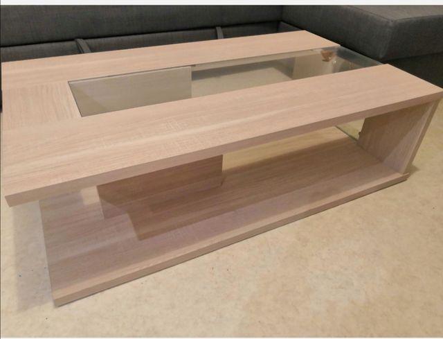 Table basse coloris chêne claire